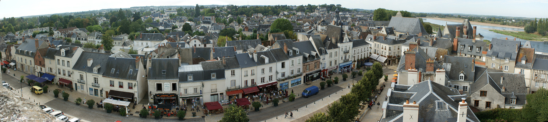 The town of Amboise (from )