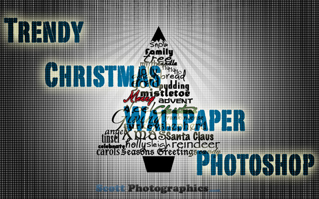Making a trendy Christmas Wallpaper in Photoshop