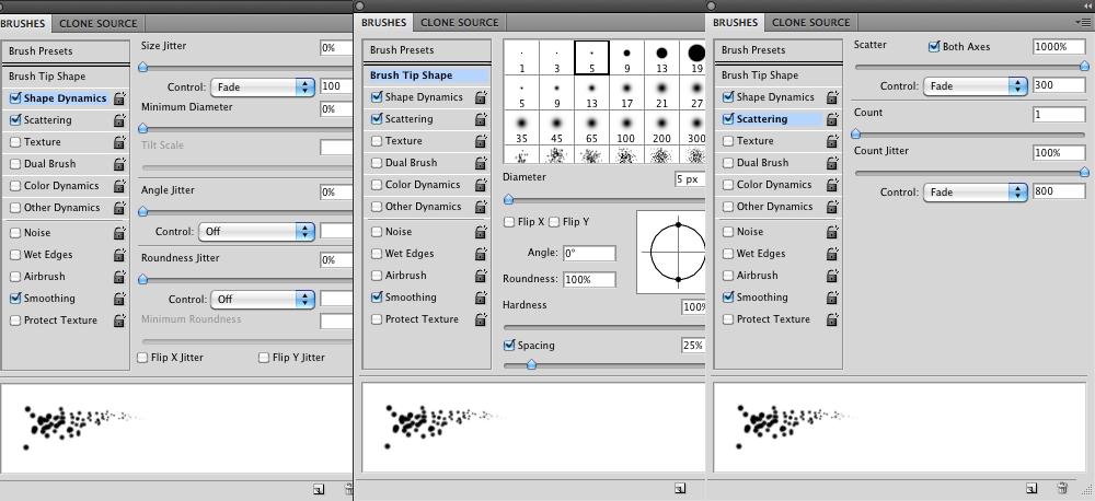 Sparklings: Brush Settings