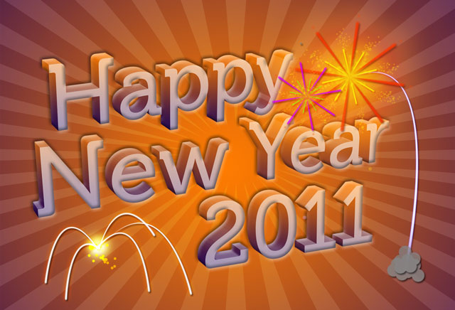 3D New Year Wallpaper in Photoshop