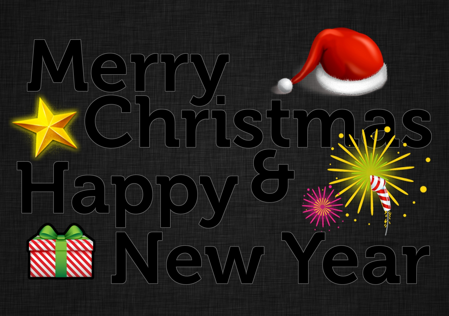 Merry Christmas & Happy New Year Wallpaper in GIMP | Scott ...