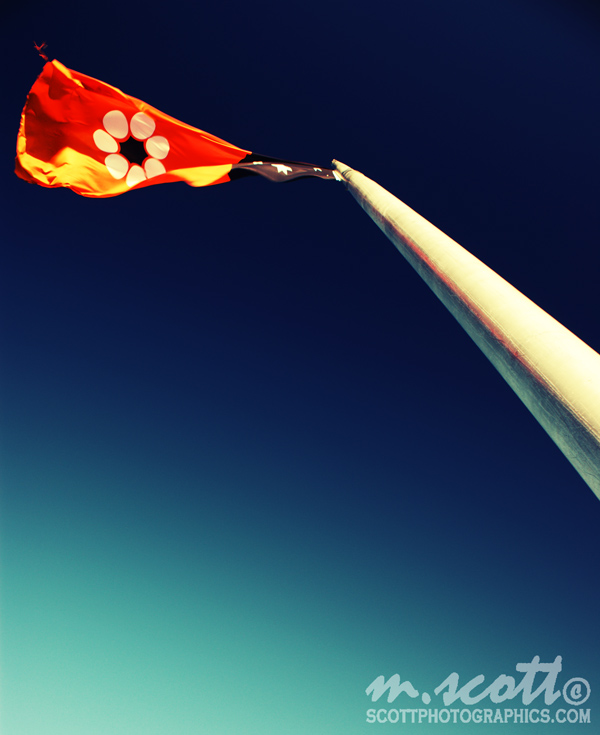 The Northern Territory Flag - Anzac Hill, Alice Springs