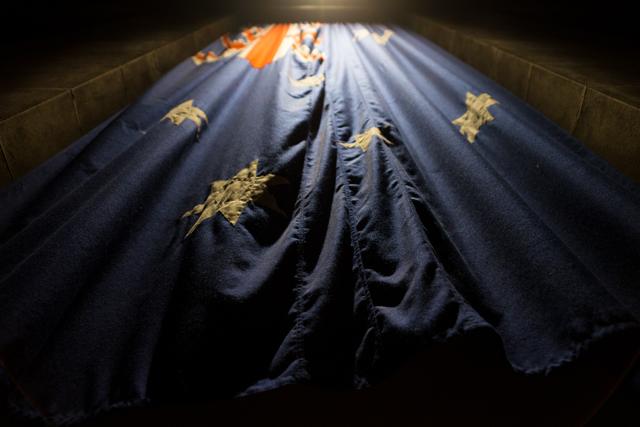Australian Flag - The Shrine of Remembrance Melbourne