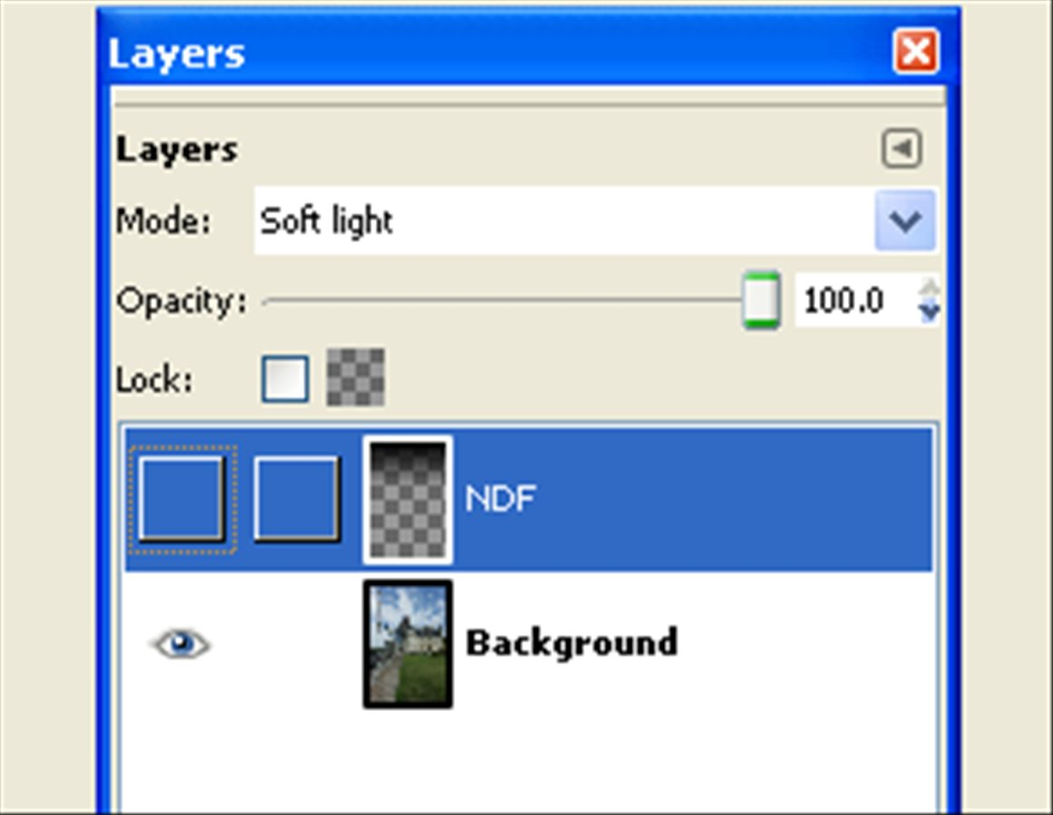hide the NDF layer to see the change