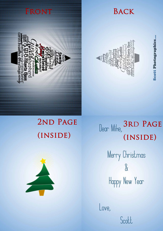 Free stylish Christmas Card