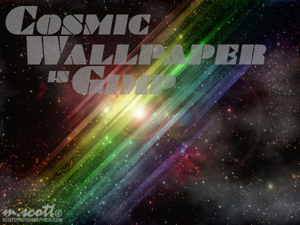 Cosmic Wallpaper in GIMP