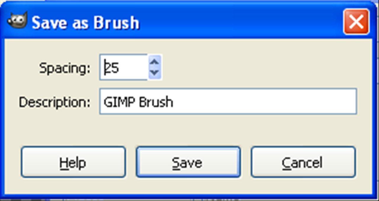 Saving as a Brush