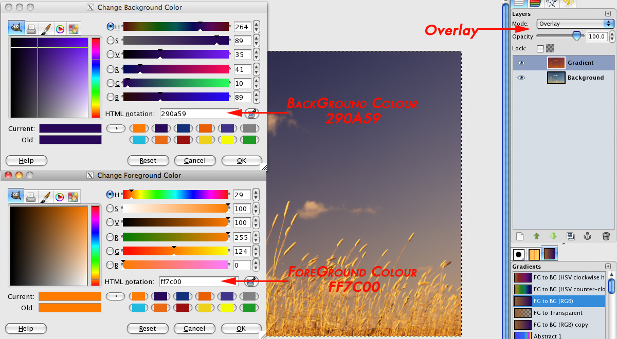 Gradient Map Overlay