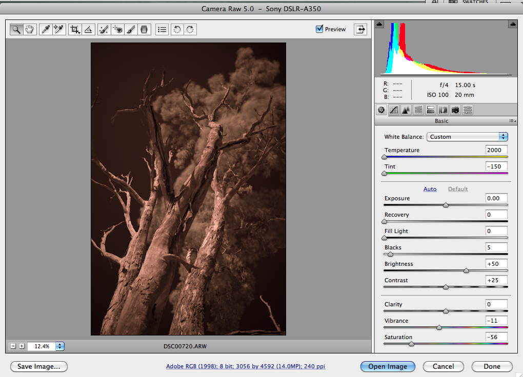 post processing infrared photographs in photoshop gimp