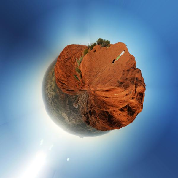 Uluru Planet Sterographic Projection