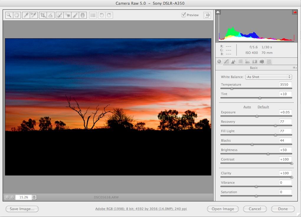 Adobe Camera Raw 5.0